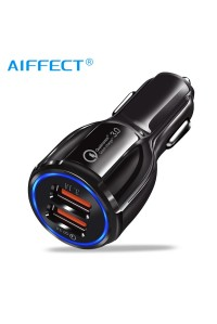 Автомобильное зарядное устройство USB AIFFECT A1 B1-BK (SY-681) Quick Charge