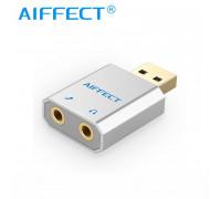 Внешняя звуковая карта USB AUX AIFFECT (AI AUSMA-SV)