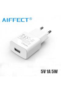 Зарядное устройство USB 1A 5W AIFFECT AI-WHA-1U-5W-WH