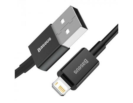Кабель USB Lightning Baseus для iPhone 2.4A Black
