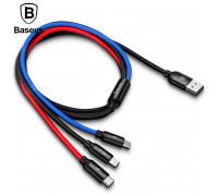 Кабель 3 в 1 Type-C-Micro USB-Lightning 3.5А Baseus 1.2 м