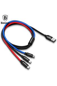 Кабель 3 в 1 Type-C/Micro USB/Lightning 3.5А 1.2 м Baseus Camlt-Dsy01