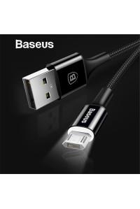 Кабель Micro USB Baseus реверсивный c LED подсветкой