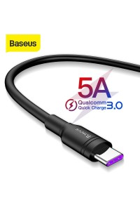 Кабель Baseus Type-C для быстрой зарядки Quick Charge 3.0 5A 40W (CATSH-E01)