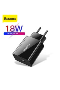 Сетевое зарядное устройство USB Quick Charge 3.0 18W Baseus (CCFS-L01)