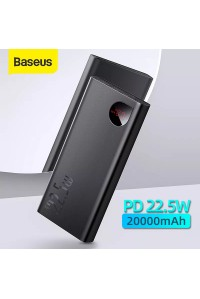 Baseus Power Bank 20000 mAh 22.5W быстрая зарядка QC PD AFC металл корпус LED дисплей (PPIMDA)