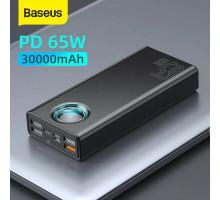 Power Bank Baseus 30000mAh 65W USB C PD 3.0 QC3.0 SCP LED для смартфона и ноутбука