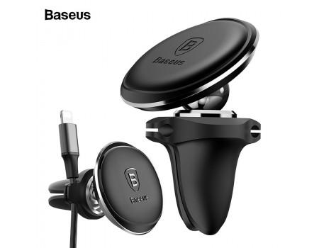 Магнитный держатель Baseus Black для телефона в машину