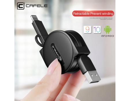 Кабель 2 в 1 Micro USB Lightning Cafele SB2-14-04 1.5 м