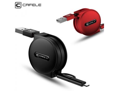Кабель 2 в 1 Micro USB Lightning Cafele SC5-09-04 1 м