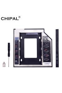Карман для замены 9.5 мм CD-ROM ноутбука SSD/HDD 2.5'' 7- 9.5 мм HDD Caddy CHIPAL CP123-DB