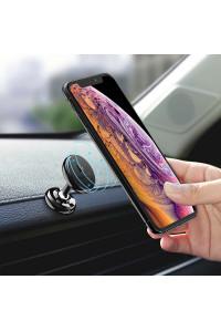 Магнитный держатель для телефона в машину Floveme Double 360° Black