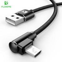 Кабель для быстрой зарядки Micro USB 90° FLOVEME YXF151977-1