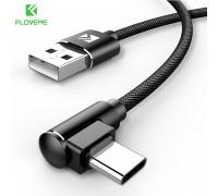Кабель для быстрой зарядки USB Type-C 90° FLOVEME YXF151978-1