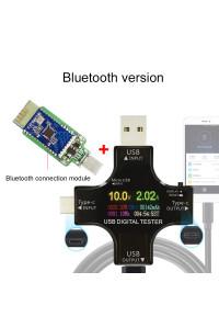 Цветной USB тестер J7-С с блютус Type-C Micro USB 3.6-32V 5.1A