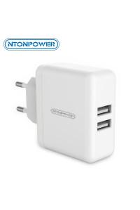 Зарядное устройство USB 3A 15W Ntonpower WHC-2U-EU-WH