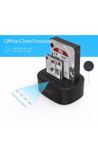 """Док станция для двух HDD/SSD 2.5"""" 3.5"""" ORICO 6228US3-C (клонирование)"""