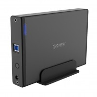 "Карман для HDD 3.5"" USB 3.0 SATA III ORICO 7688U3-BK алюминиевый корпус+подставка"