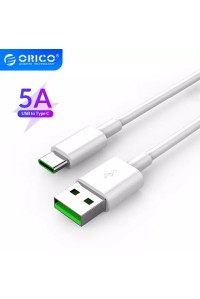 Кабель USB Type-C Orico Quick Charge 5A 1 м (AC5)