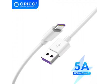 Кабель для быстрой зарядки USB Type-C Orico 5A Quick Charge 1.5 м (AC70-WH)