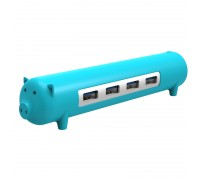 USB 3.0 хаб Orico OTG 1 м для компьютера и телефона (синий)