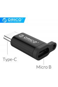 Переходник Micro USB Type-C OTG ORICO CBT-MT01-Black алюминий, брелок