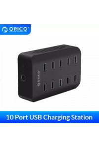 Зарядная станция для телефонов Orico 10 USB 120W (DUB-10P-V1)