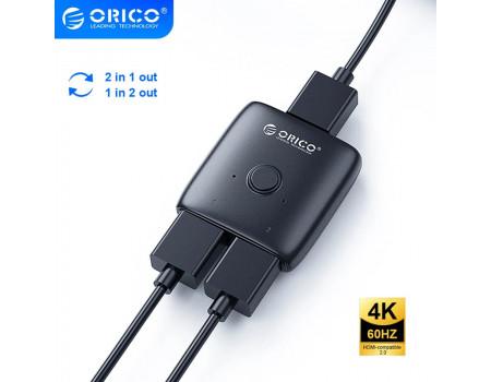 HDMI коммутатор переключатель свитч двунаправленный 4K-60Hz Orico (HS2-A1)