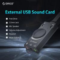 Внешняя звуковая карта USB-3.5 мм jack ORICO SC1