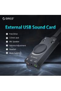 Внешняя звуковая карта USB AUX ORICO SC1