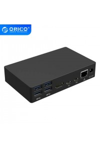 Док-станция для ноутбука Orico USB C хаб Ethernet RJ45 HDMI 4K PD 6 * USB 3.0