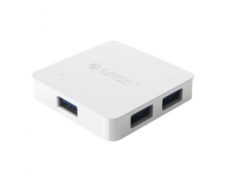 USB 3.0 хаб с внешним питанием 4 порта OTG Orico White (TA4U-U3-WH)