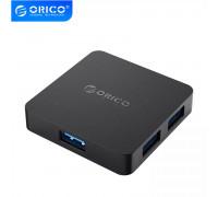 USB hub с питанием OTG 4 порта USB 3.0 Orico Black (TA4U-U3-BK)