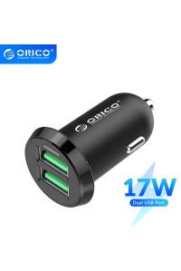 Автомобильное зарядное устройство для телефона Orico 2 USB 3.4А 17W Black