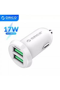 Автомобильное зарядное устройство для телефона Orico 2 USB 3.4А 17W White