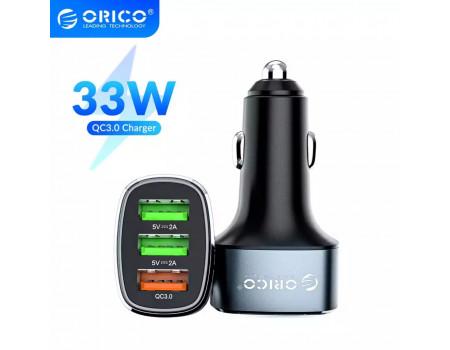 Автомобильная зарядка для телефона Orico 3 USB 33W Quick Charge QC3.0 Gray (UPB-3U)