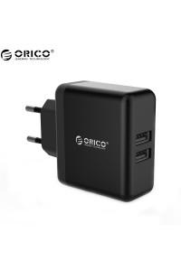 Сетевое зарядное устройство 2 USB ORICO 3A 15W (WHC-2U-BK)