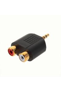 Переходник mini-jack 3.5 mm 2 RCA