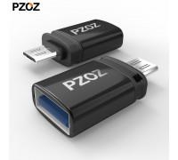 Переходник OTG Micro USB 3.0 PZOZ алюминий