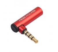 Переходник CTIA OMTP 3.5 мм 90° 4 pin Rexlis Red