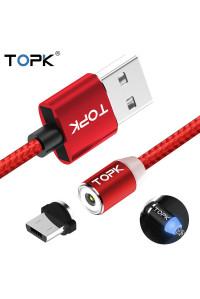 Магнитный кабель TOPK Micro USB R-Line2 Red