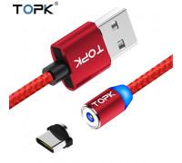 Магнитный кабель USB Type-C TOPK R-Line2 Red
