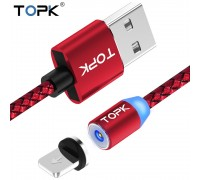 Магнитный кабель TOPK Lightning R-Line1 Red