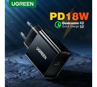 Сетевое зарядное устройство Ugreen USB Type-C PD 3.0 Quick Charge 4.0 (UG-10191)