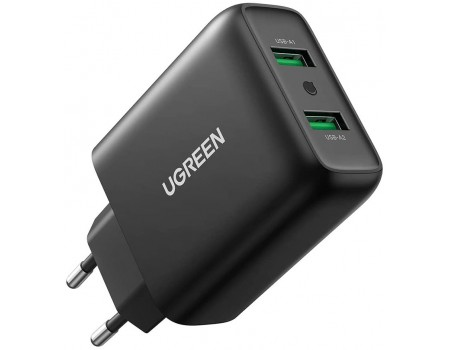 Сетевое зарядное устройство Ugreen Quick Charge 3.0 FCP AFC 36W 2 USB (UG-10216)