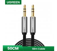 AUX кабель 3.5 мм 3.5 мм 24K Ugreen Black 0.5 м (UG-10723)