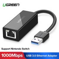 Сетевой адаптер USB 3.0 Gigabit Ethernet 100/1000 Мбит/c LAN RJ45 Ugreen (UG-20256)