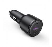 Автомобильная зарядка для ноутбука UGREEN 69 Вт USB-C PD QC 3.0 FCP SCP для MacBook iPad iPhone
