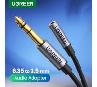"Переходник 3.5 на 6.3 мм UGREEN 1/4"" 1/8"" TRS Hi-Fi (UG-20498)"
