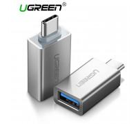 Переходник OTG USB 3.0 Type-C Ugreen 20809 алюминий